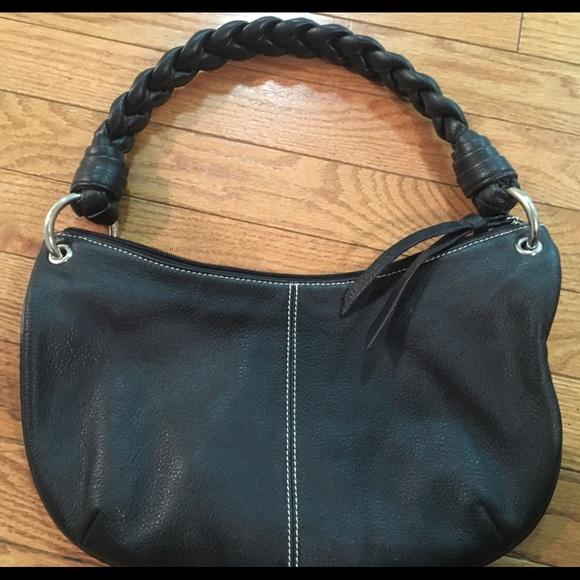 65233db5eb6 Lauren Ralph Lauren Bags   Pebbled Leather Braided Ralph Lauren Hobo ...